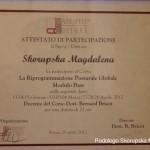 Attestato corso di auricoloterapia dott.ssa Magdalena Skorupska