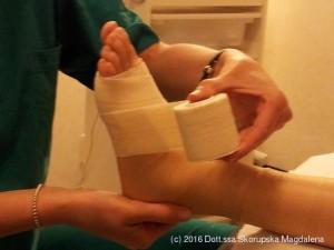 Tecnica fasciatura del piede sportivo