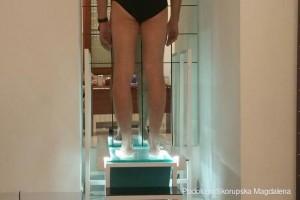 Controllo postura al podoscopio